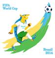 Armadillo playing football FIFA World Cup mascot vector image