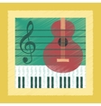 flat shading style icon music lesson vector image