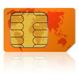 global sim card vector image