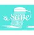 Minimal Design - save Water vector image