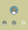 mountain logo sports facilities emblem vector image
