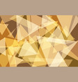orangeyellow gold triangle abstract background vector image