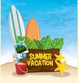 summer vacation icon vector image