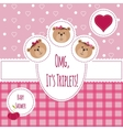 Three happy triplets Baby arrival announcement vector image