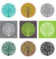 Tree logo template Beautiful tree card or vector image