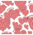 vextor seamless pattern happy valentine s day vector image