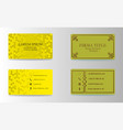 Visiting cards set collection business card set vector image