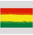 National Grunge Flag of Bolivia Isolated vector image