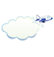 An airplane passing through the cloud vector image vector image