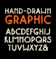 sanserif font with rounded corners vector image