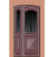 closed door with grille vector image