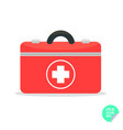 first aid kit flat icon health care flat vector image