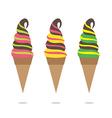 Colorful Ice Cream Cone vector image