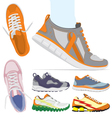 Running shoes set vector image