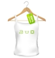 100 precent natural clothes vector image vector image