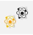 realistic design element atom vector image