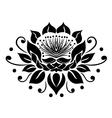 Filigree lotus flower vector image