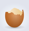 broken egg shell vector image