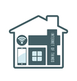 iot house technology vector image