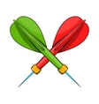 Darts icon cartoon style vector image