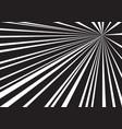 black white speed line zoom background vector image