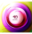 Colorful abstract swirl vector image