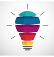 Colorful sliced bulb vector image