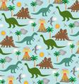 dinosaur scene vector image