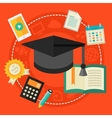 High school education concept vector image