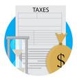 pay taxes icon vector image