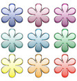 Set flowers buttons vector image