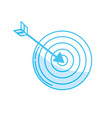 silhouette arrow with target board to play vector image