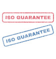 iso guarantee textile stamps vector image