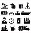Oil and petrol icons vector image