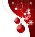 Christmas background red color vector image vector image