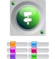 Road arrows color round button vector image vector image