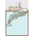 Moby dick vector image