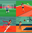 colorful sport square composition vector image