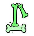 comic cartoon halloween bone number vector image