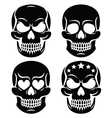 Halloween human skull design - Day of the Dead vector image