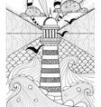Hand drawn Lighthouse vector image
