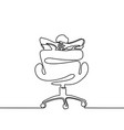 Man thinking and dreaming in office chair vector image
