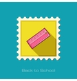 Straightedge flat stamp vector image
