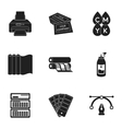 Typography set icons in black style Big vector image