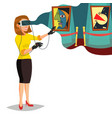virtual reality wear virtual reality vector image