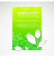 Green paper leaf abstract wallpaper vector image vector image