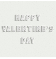 Happy Valentines Day white stylish card design vector image vector image