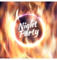 Ring of fire fiery circle on poster for vector image