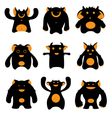 monsters silhouettes vector image