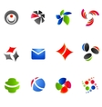 12 colorful symbols set 12 vector image vector image